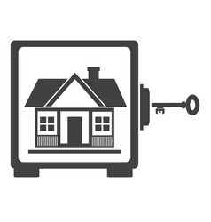 House in safe house protection vector
