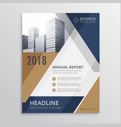 Real estate brochure design vector