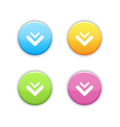 Set of round download buttons vector