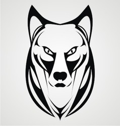 Wild Dog Face Tribal vector image