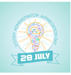 28 july system administrator vector image