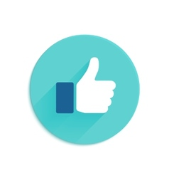 Thumbs up icon flat style vector