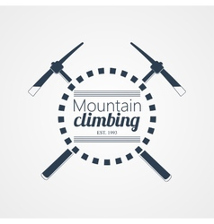 Mountain climbing logo vector