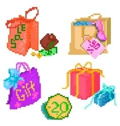 Set of packs vector image