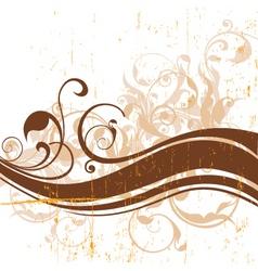 vintage floral graphic vector image