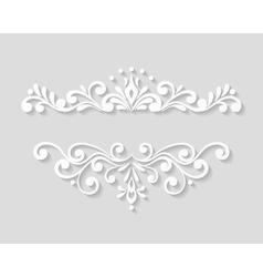 Elegant paper retro floral border vector