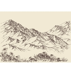 Mountain peaks altitude landscape vector
