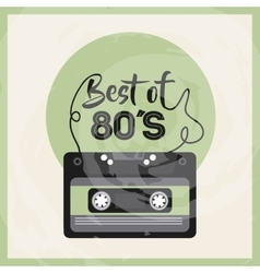 Cassette icon retro and music design vector