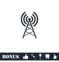 Antenna icon flat vector image