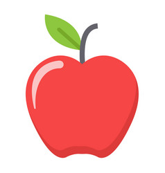 apple flat icon food and fruit graphics vector image vector image