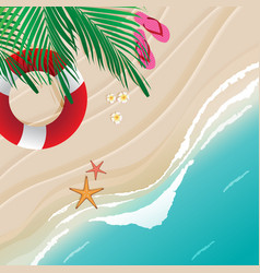 Beach top view vector