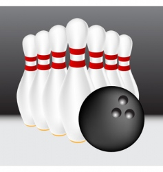 bowling illustration vector image vector image