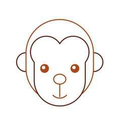 cute monkey wild icon vector image