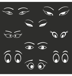 Eye icon set vector