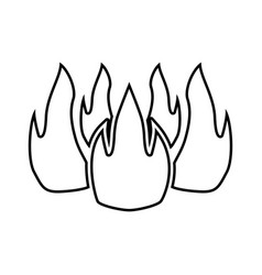 fire black color icon vector image vector image