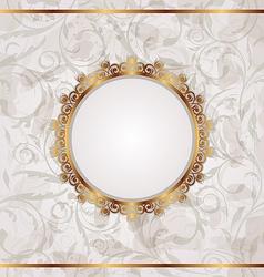Golden retro frame seamless floral texture vector image