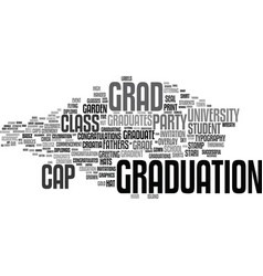 Grad word cloud concept vector