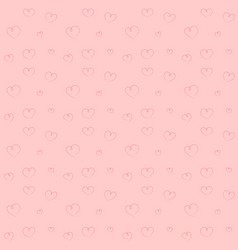 Hand drawn pink hearts backdrop seamless pattern vector