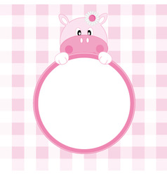 hippo frame vector image