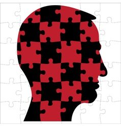 Human head thoughts vector image vector image
