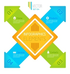 Infographics elements vector image vector image