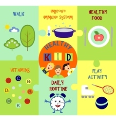Infographics on the topic of child health vector
