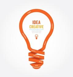 light bulb ribbon paper design creative line style vector image vector image