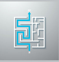 Maze labyrinth simple icon vector