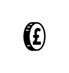 Money pound icon vector image vector image