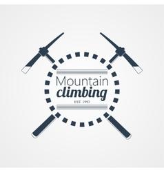 Mountain climbing logo vector image vector image