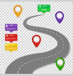 Navigation infographics design Car road vector image vector image