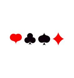 playing card poker symbols set ace set vector image