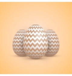 Realistic easter egg icon painted vector