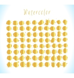 Set of gold splashes isolated on background vector