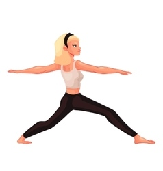 Set with beautiful woman in various poses of yoga vector image