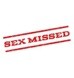 Sex missed watermark stamp vector