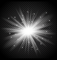 Silver starburst on transparent background vector