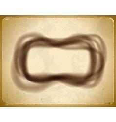 Soot frame on cardboard vector image