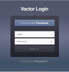 login password security web screen vector image