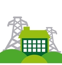 Energy industry concept icon vector