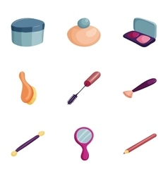 Cosmetics manicure beauty icons set vector