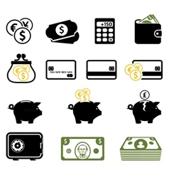 Finance symbols set vector