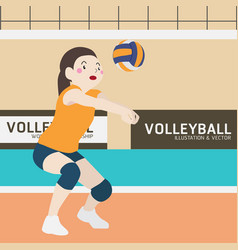 Volleyball athletic sport cartoon vector