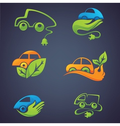 ecological cars vector image