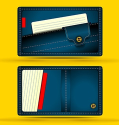 Denim business card vector