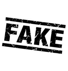 Square grunge black fake stamp vector