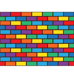 Rainbow bricks pattern vector