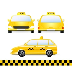 set of isolated taxi car silhouette vector image