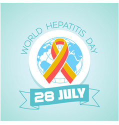 28 july world hepatitis day vector image
