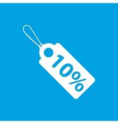 Price tag white icon vector image
